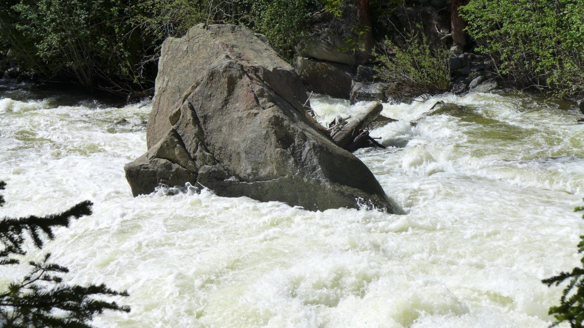 Roaring Fork River, Grottos, at 5 p.m. on Thursday, June 16, 2016, before flows from Lincoln Creek were added to the Fork.
