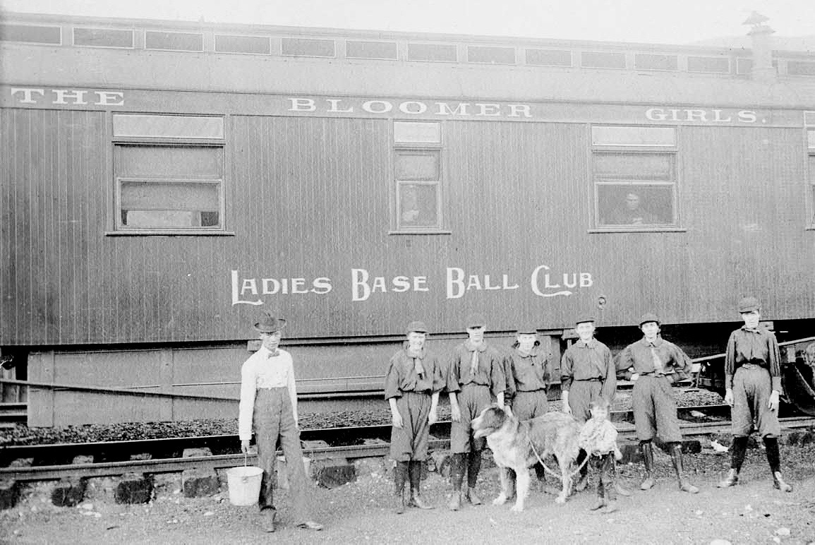 The touring Bloomer Girls from Denver, a Ladies Base Ball Club, make an Aspen stop in August, 1898, to play a ringer team of Aspen men. The Aspen Times wrote that some 300 people showed up to watch. Aspen won 18-8.