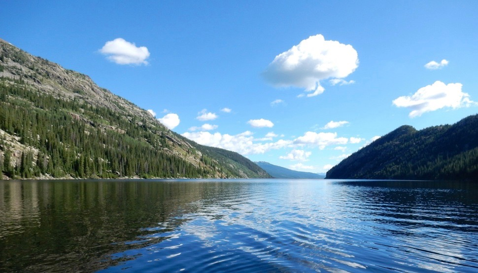 A view from the Pitkin County end of Homestake Reservoir, located on Homestake Creek, a tributary of the upper Eagle River.