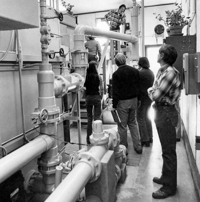 The City of Aspen's back-up Hunter Creek water treatment plant, as featured in The Aspen Times, in 1978.