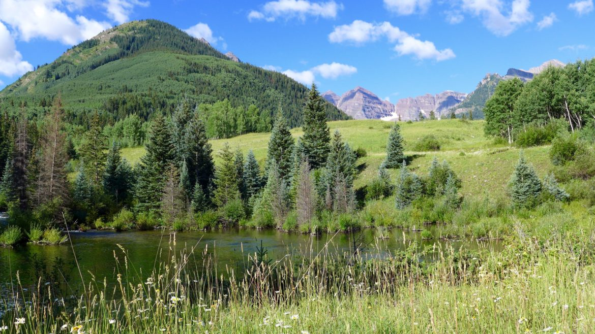 A view from where a potential dam would stand on Maroon Creek if the City of Aspen perfected its conditional water rights tied to a potential Maroon Creek Reservoir.