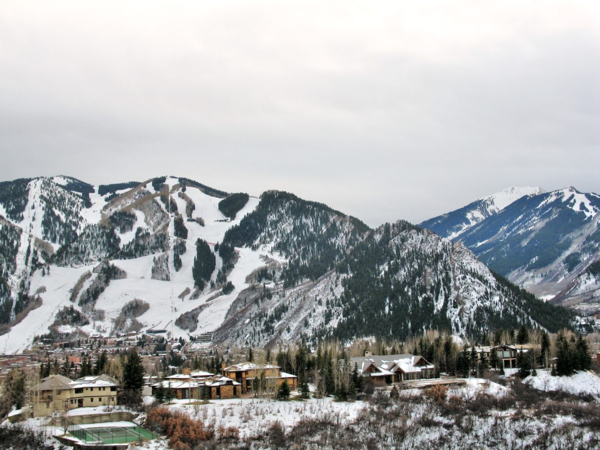 A view of the Silver Queen, lying on her back across Aspen Mountain, her head to the right, formed by Shadow Mountain. Tree growth, rock erosion, and private properties make finding the ideal view in 2016 more difficult than in years past.