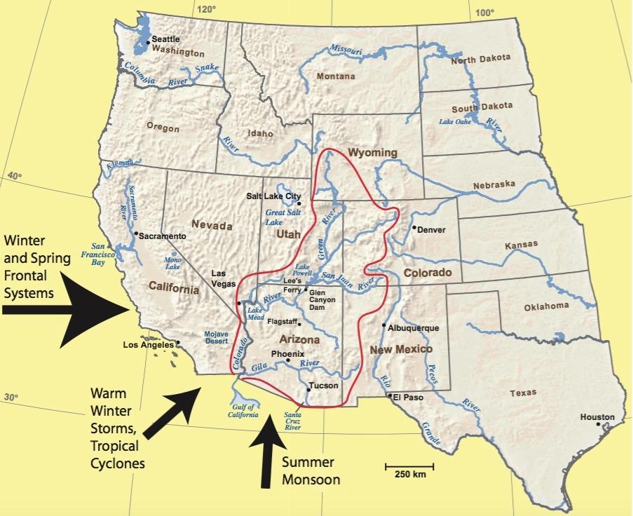 Colorado River Reporting Resources Aspen Journalism - Colorado river map world atlas