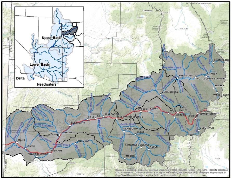 Colorado River Reporting Resources Aspen Journalism - Colorado river world map
