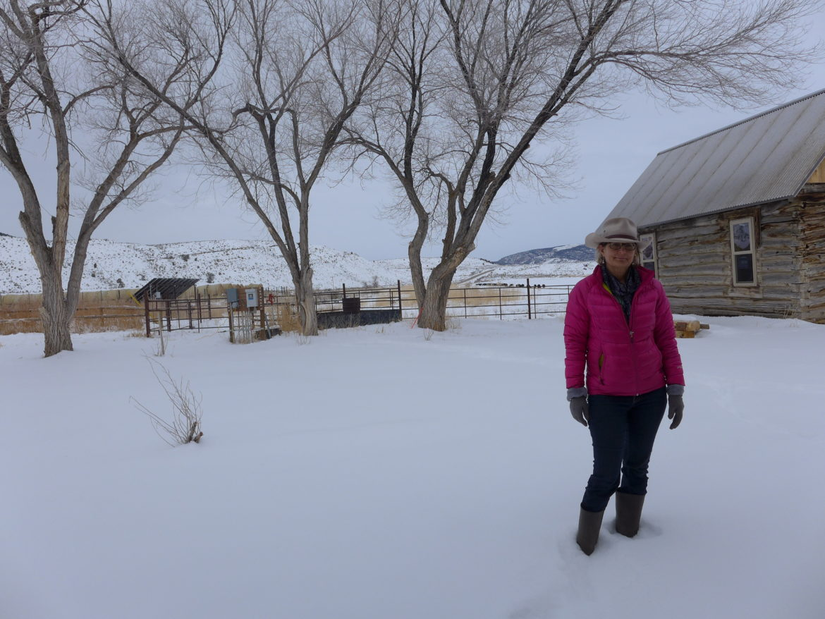 Deirdre Macnab, seen here on her 13,000-acre 4M Ranch between Rangely and Meeker, is the current sole opposer in the water court case for the White River storage project. Colorado's top water engineers are looking to intervene in the case because they say the project applicant has not proven there is a need for the water. Photo by Heather Sackett/Aspen Journalism.